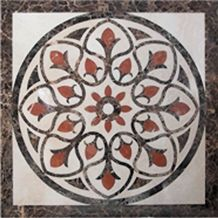 Natural Stone China Multicolor Marble Floor Medallions, Waterjet Medallion