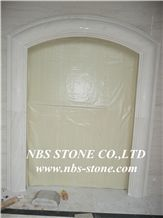 Beige Marble Window Frame,China Window Surround