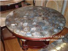 Blue Mammade Stone Semi Precious Stone Agata Tabletops