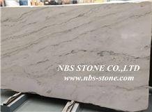 Calacata Quartzite Slab,White Quartzite for Floor Tile, Calacatta White Quartzite