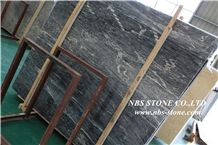 Jaguar Marble Tile&Slab,High Level Appearance,Dark Grey Series with Little White Veins