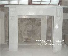 Western Style Fireplace,China Beige Marble Fireplace,Stone Fireplace Mantel