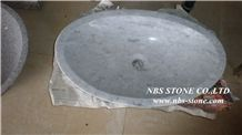White Marble Round Basins & Sinks