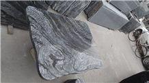 Wood Vein Black Marble Table
