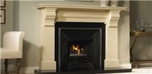 Raised Black Granite Fireplace Hearth