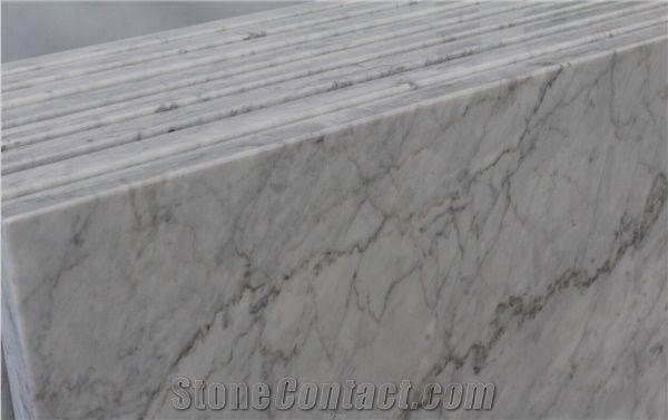 Bianco Carrara Marble Countertop,Polished White Carrara Marble Island Top