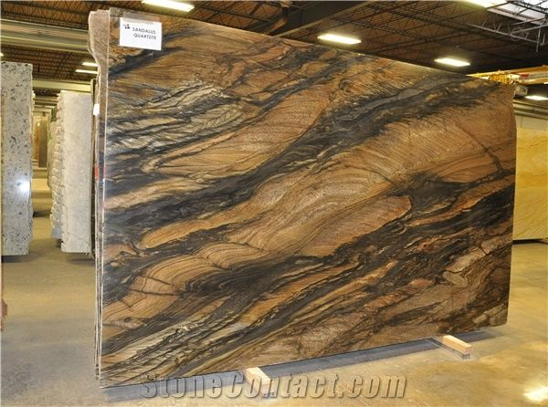 Sandalus Quartzite 3cm Slab Brazil Quartzite Tiles For