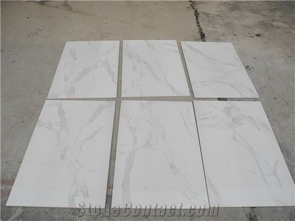 Turkey Calacatta White Marble Slabs Tiles Ceramic