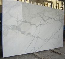 Bianco Calacatta Vento Marble Polishing Marble Slabs, Carrara Calacatta Marble Interior Bathroom Walling Tiles Panel Pattern Skirting