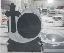 Black Caving Tombstone,Tombstone Design,Western Style Monuments,Angel Monuments