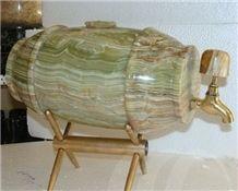 Green Onyx Beer Tank Kitchen Accessories,Chinese Handcrafts,Elegant Handicraft