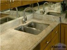 White Granite Countertop, White Granite Kitchen Top, White Granite Kitchen Countertop