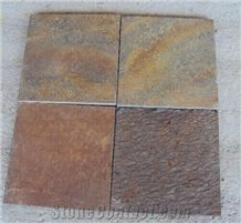 Cheap China Popular Natural Split Brown Rusty Slate Tiles, Floor Covering, Wall Cladding, Natural Building Stone Outdoor Decoration, Garden Project Use, Quarry Owner