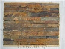 Cheap China Popular Rusty Brown Slate Cultured Stone for Wall Cladding Decor, Loose/Corner/Ledge Stone/Fieldstone for Garden, House Exterior Decoration, Quarry Owner
