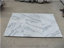 China Cheap Popular Guangxi White Marble with Grey Veins/Lines Polished Slabs & Tiles for Wall and Floor Covering, Skirting, Natural Building Stone Decoration, Interior Hotel, Villa, Shopping Mall Use