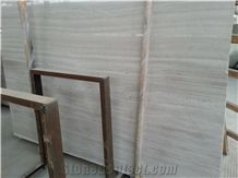 China Popular Silk Georgette/ Wood-Grain White Wooden Marble Slabs, Tiles Natural Building Stone Flooring,Feature Wall,Interior Paving,Clading,Decoration Quarry Owner