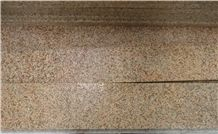 G682 Sunset Gold/Rusty Yellow, Cheap China Granite in Flamed Stair Steps,Treads and Risers, Staircase, Natural Building Stone Outdoor Decoration, Manufacturer Competitive Prices with High Quality