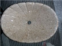 Popular China G682 Rusty Yellow, Sunset Gold Granite Sinks/Oval Wash Basins, Round Shape for Bathroom, Toilet, Competitive Prices Supply, Manufacturer, Natural Building Stone for Interior Decoration
