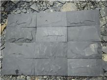 Split Face Stone Black Slate Tiles for Wall Cladding, China Black Cheap Slate Wall & Floor Covering Tiles, Natural Building Stone Wall Decoration, Quarry Owner