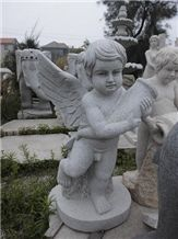 China Grey Granite Carving Angel Baby Statues,Exterior Decoration,Wholesaler,Quarry Owner-Xiamen Songjia