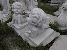 China Grey Granite Carving Baby Sculptures & Statues,Exterior Decoration,Wholesaler,Quarry Owner-Xiamen Songjia
