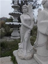 China Grey Granite Carving Girl Sculptures & Statues, Exterior Decoration,China Granite,Wholesaler,Quarry Owner-Xiamen Songjia