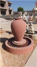 Agra Red Sandstone Garden Fountains