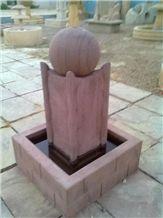Bansi Pink Sandstone Garden Fountain
