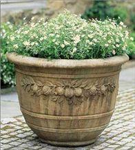 Brown Stone Flower Pot, Katni Brown Sandstone Flower Pot