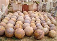 Rainbow Sandstone Stone Ball