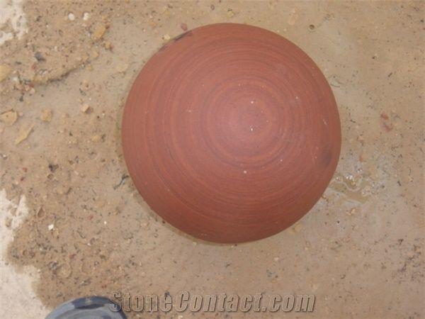 Stone Ball Agra Red Sandstone Garden Decor From India StoneContact Mesmerizing Stone Ball Garden Decoration