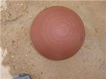 Stone Ball Agra Red Sandstone Garden Decor