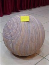 Stone Ball Rainbow Sandstone Garden Ornament