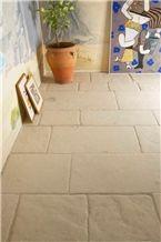 Pierre Auberoche Claire Brushed Floor Tiles, White France Limestone Tiles & Slabs