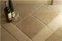 Pierre Auberoche Ocre Brushed Chiseled Edge Floor Pattern