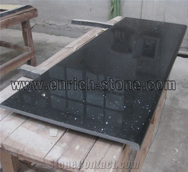 Black Quartz Stone Countertops,Black Engineered Quartz Stone Kitchen  Countertops