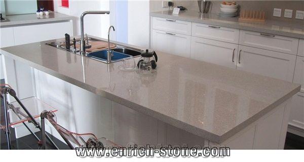 Sparkle Quartz Stone Kitchen Countertops Sparkling White Quartz