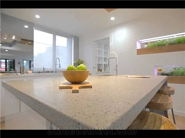 Bst A2035 Solid Color China Elegant White Quartz Stone Countertop With  Bright Solid Surface Directly From China Manufacturer At Competitive Pricing