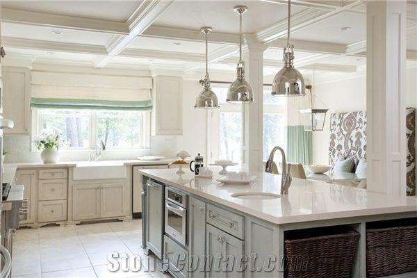 Luxury And Exquisite Design In Solid Color Quartz Countertop