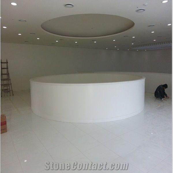 Super Nanogl Shiny White Floor Tiles Interior Design