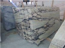 Vulcanatta Marble Tiles & Slabs, Paonazzo Gold, White Portugal Marble