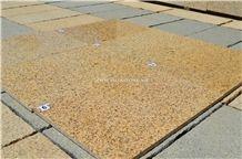 Vietnam Dark Yellow Granite Tiles & Slabs