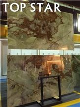 Topstar Hotel Wall Decoration Onyx Green Onyx Panel,Bursa Green Onyx Slabs & Tiles