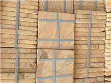 Iranian Wooden Sandstone Tiles & Slabs, Beige Sandstone