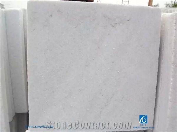 White Quartzite Stone Slabs Tiles Pure Honed Surface Floor