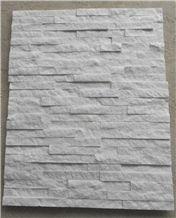 Hot Pure White Quartzite Cultured Stones/Ledge Stones/Stacked Stones/Veneer Stones Panel