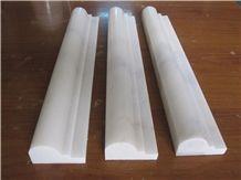 Oriental White Marble Trim Pencil Border Lines