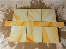 Popular Chinese Wooden Yellow Sandstone Tiles