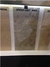 Spider Gray, Spider Grey Marble Polished Tiles, Slabs