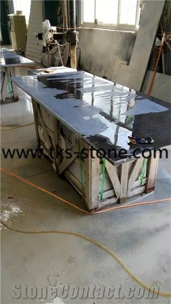 China Blue Limestone Countertops Stone Kitchen Bar Tops Desk Island